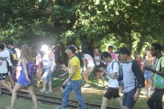 'Pokémon Go'-Gamer laufen durch den Westfalenpark.