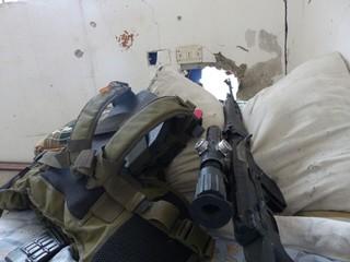 Das Scharfschützengewehr des deutschen freiwilligen YBS-Milizionärs Martin Kamper.