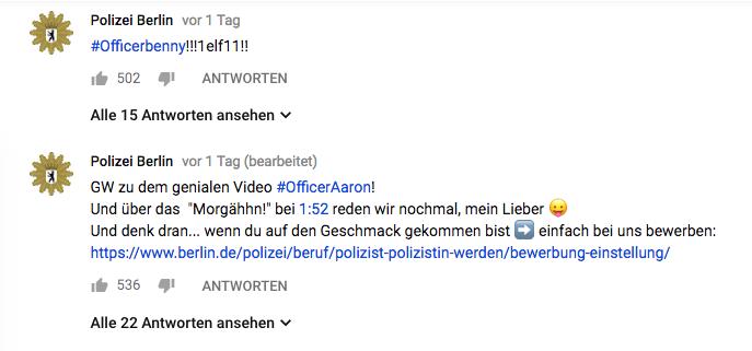 twitter reaktion der berliner polizei auf troschkes video - Youtube Video Bewerben