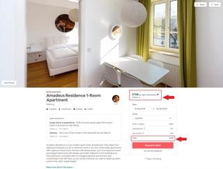 Das Amadeus-Residence-Angebot auf Airbnb