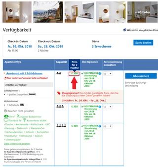 Das Amadeus-Residence-Angebot auf Booking