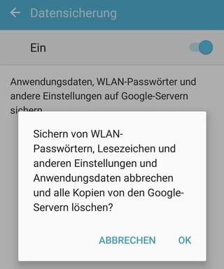 Datensicherung bei Android