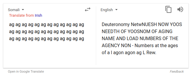 Why Is Google Translate Spitting Out Sinister Religious Prophecies