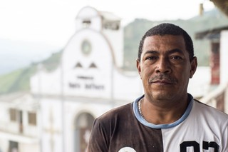 Humberto Valencia Mina is one of Marmato's Afro-Colombian miners. Photo by Bram Ebus