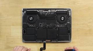 Das MacBook Pro von Innen.