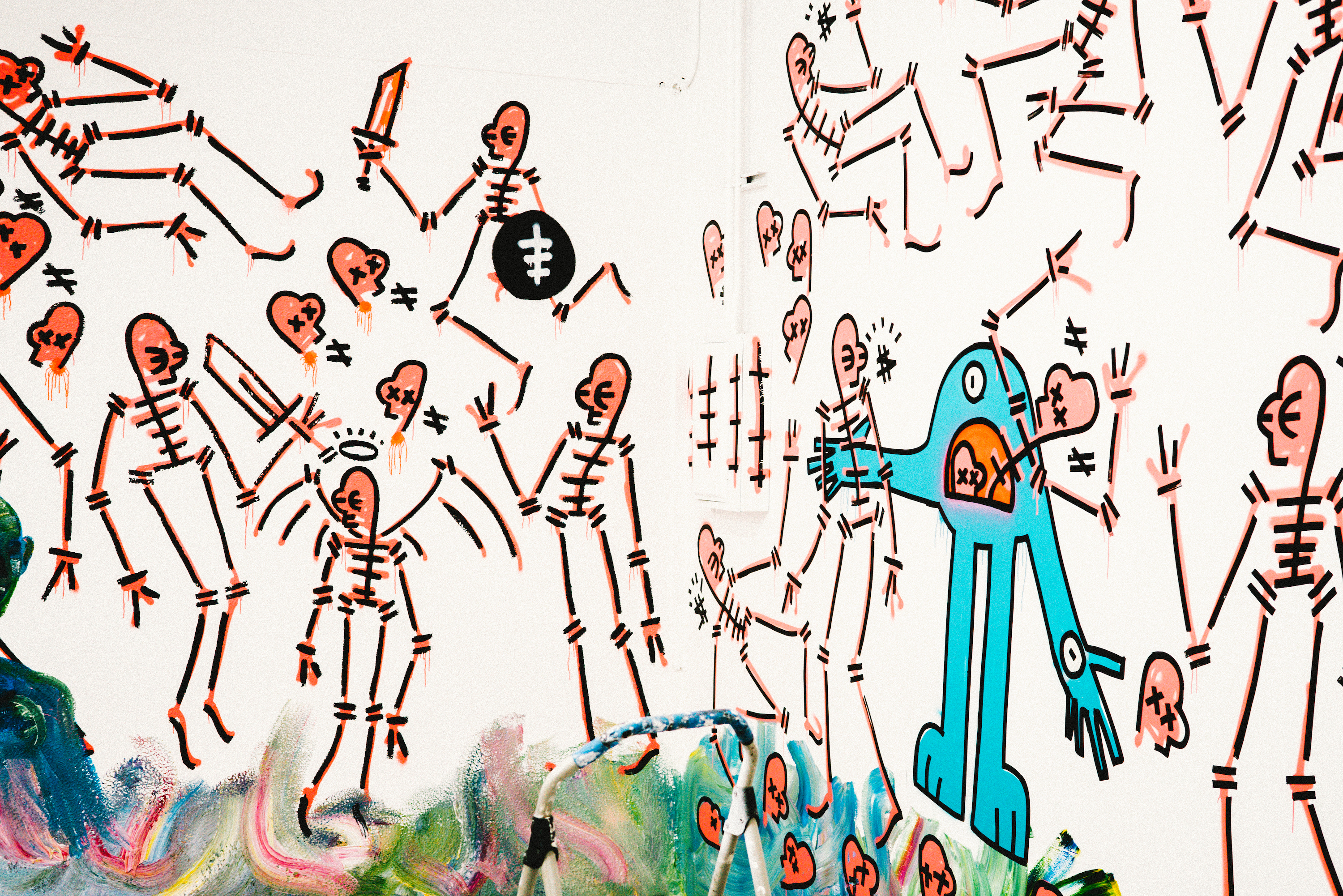 Gianni Lee Is The Modern Day Basquiat Painting Skeletons On