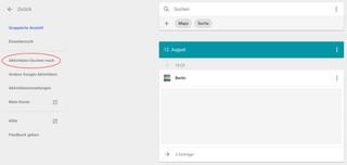 Google-Aktivitätsverlauf löschen
