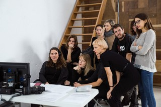 Erika Lust und ihr Team bei der Arbeit.