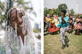 Menschen auf dem Afropunk Festival.