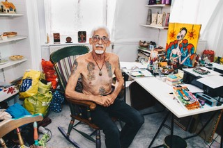 opa met tattoos