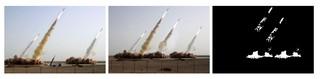 gefälschtes und echtes Raketentest-Bild