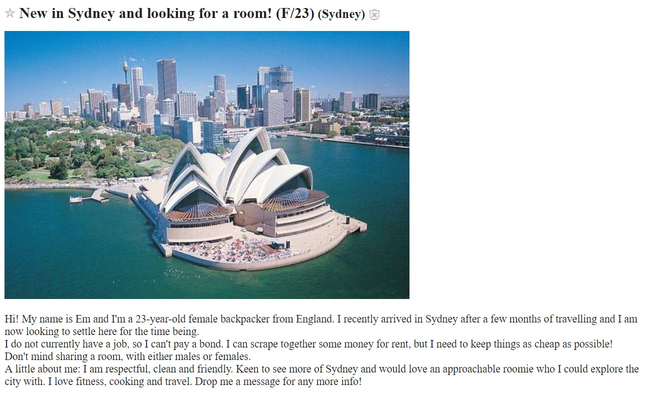 Sydney's Insane Rental Prices Have Created a Sex-For-Rent