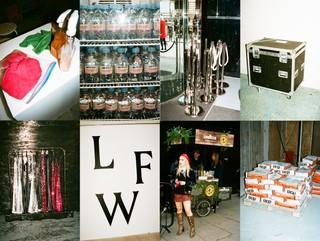 Behind the scenes at London Fashion Week