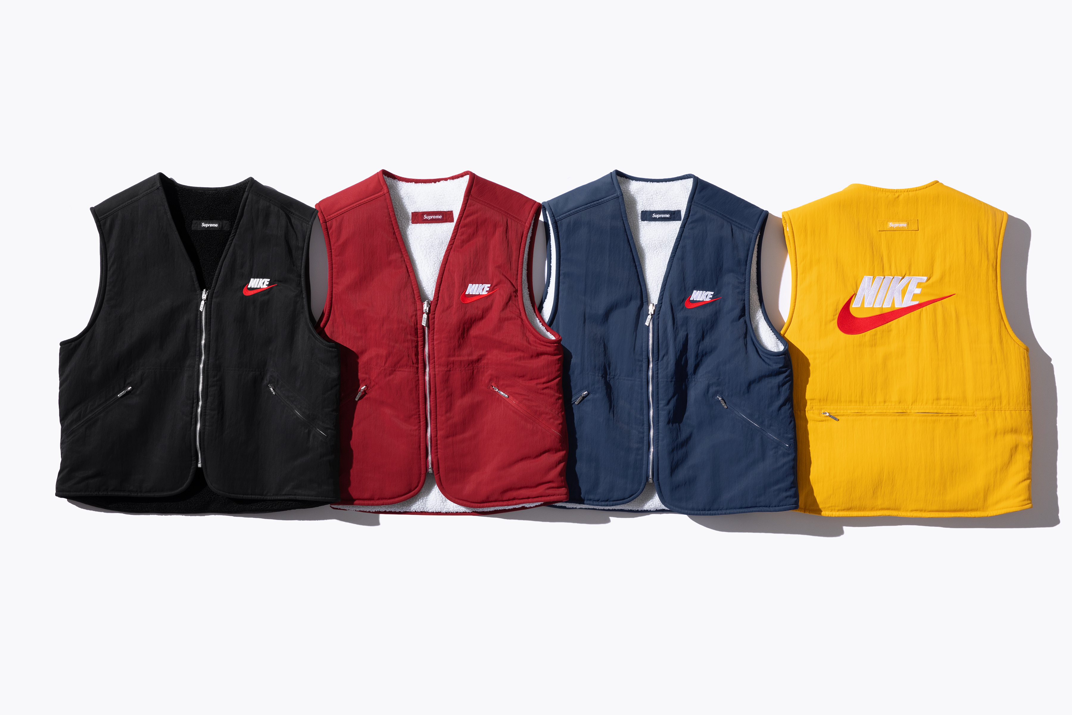 be508aadfaf9 Supreme x Nike collaboration preview pictures - gilets