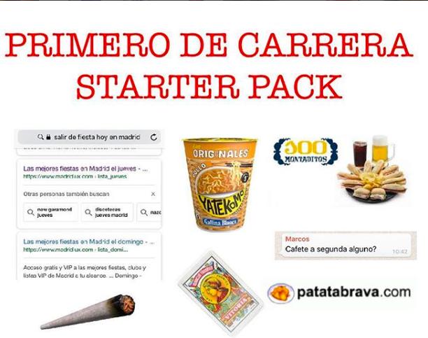 spanish starter pack meme entrevista