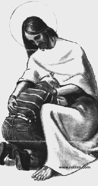 Jesus mit Buben, Bild auf der Seite Rotten.com