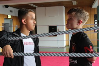 Bonky en Wopke in de boksring