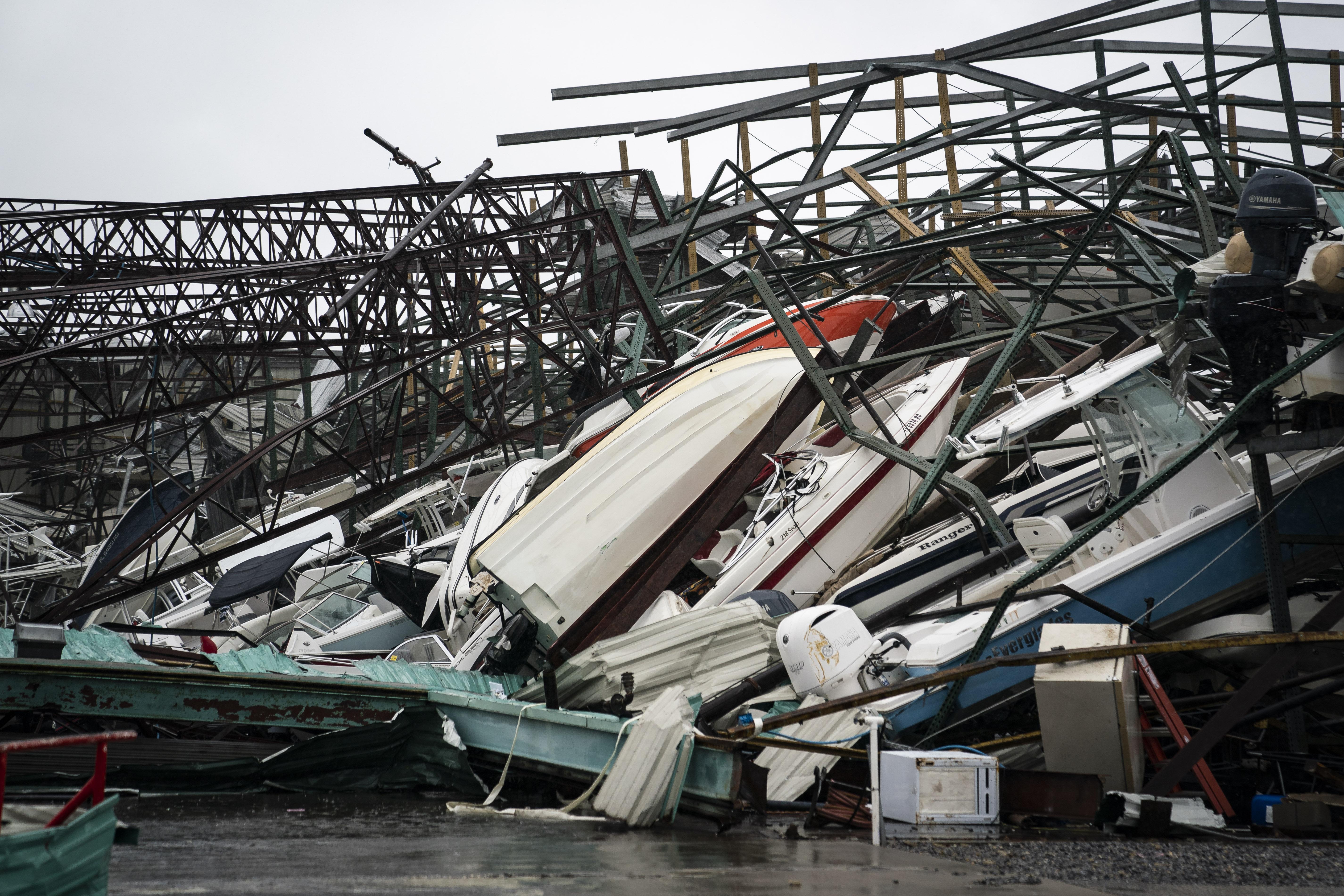 "PHOTOS: Hurricane Michael hit Florida's Panhandle like a ""bomb"""