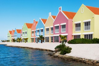 Pastel perfection in Bonaire. Photo: Courtesy of Courtyard by Marriott Bonaire Dive Resort