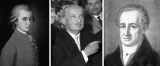 Mozart-Heidegger-Goethe-