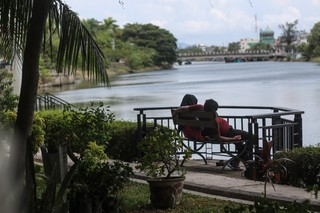 A couple relaxing in the only Indonesian province under Sharia Law, Aceh.