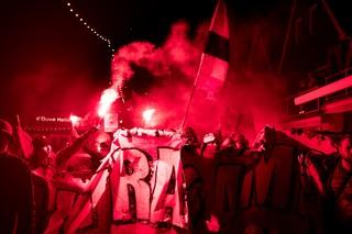 Het groepsdoek van Ultras Almere.