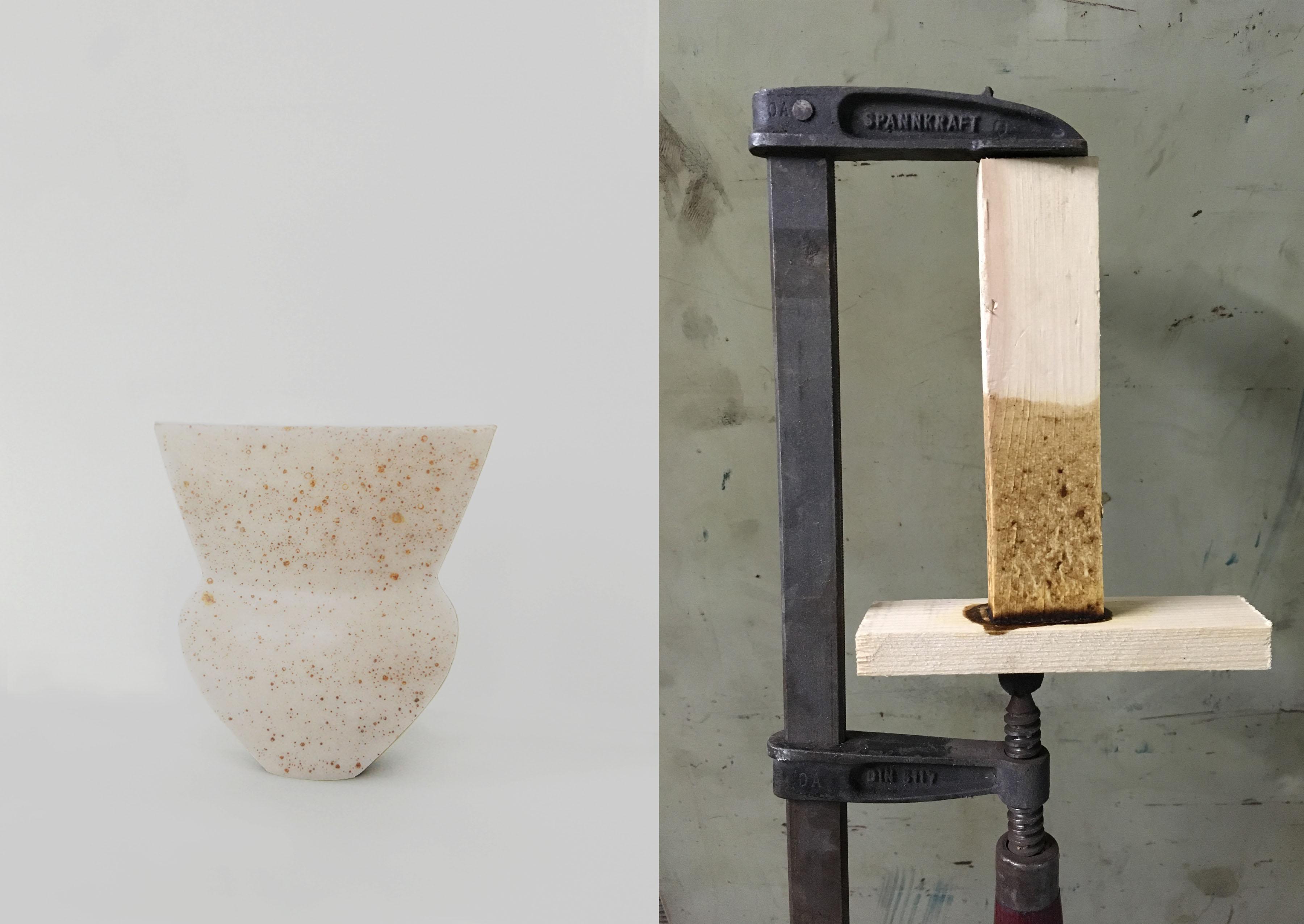 Links: Mudernism van Billie van Katwijk. Rechts: Bio-binding van Jeroen Wand.