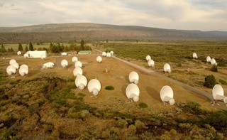 Aerial view of the Allen Telescope Array