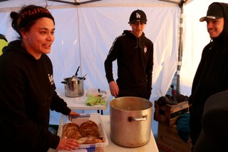 River Jayden of Street Wise dishes out food in Aranui