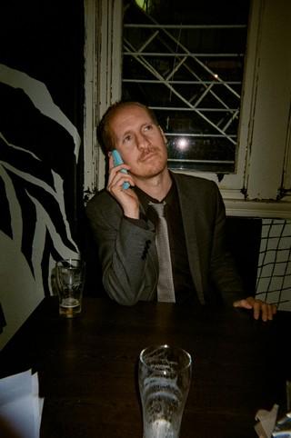 Shogun (Royal Headache, Shogun & The Sheets) with his Nokia