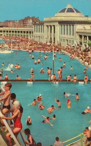 Blackpool's Pleasure Beach swimming baths. Photo: John Hinde Archive (Copyright)