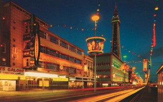 Blackpool illuminations of The Tower and Golden Mile. Photo: John Hinde Archive (Copyright)