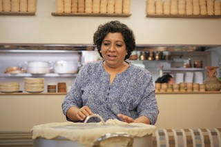Asma Khan during the filming of Netflix's Chef's Table Season Six at her restaurant in London.