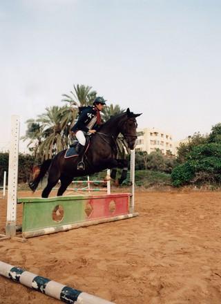 Model op paard
