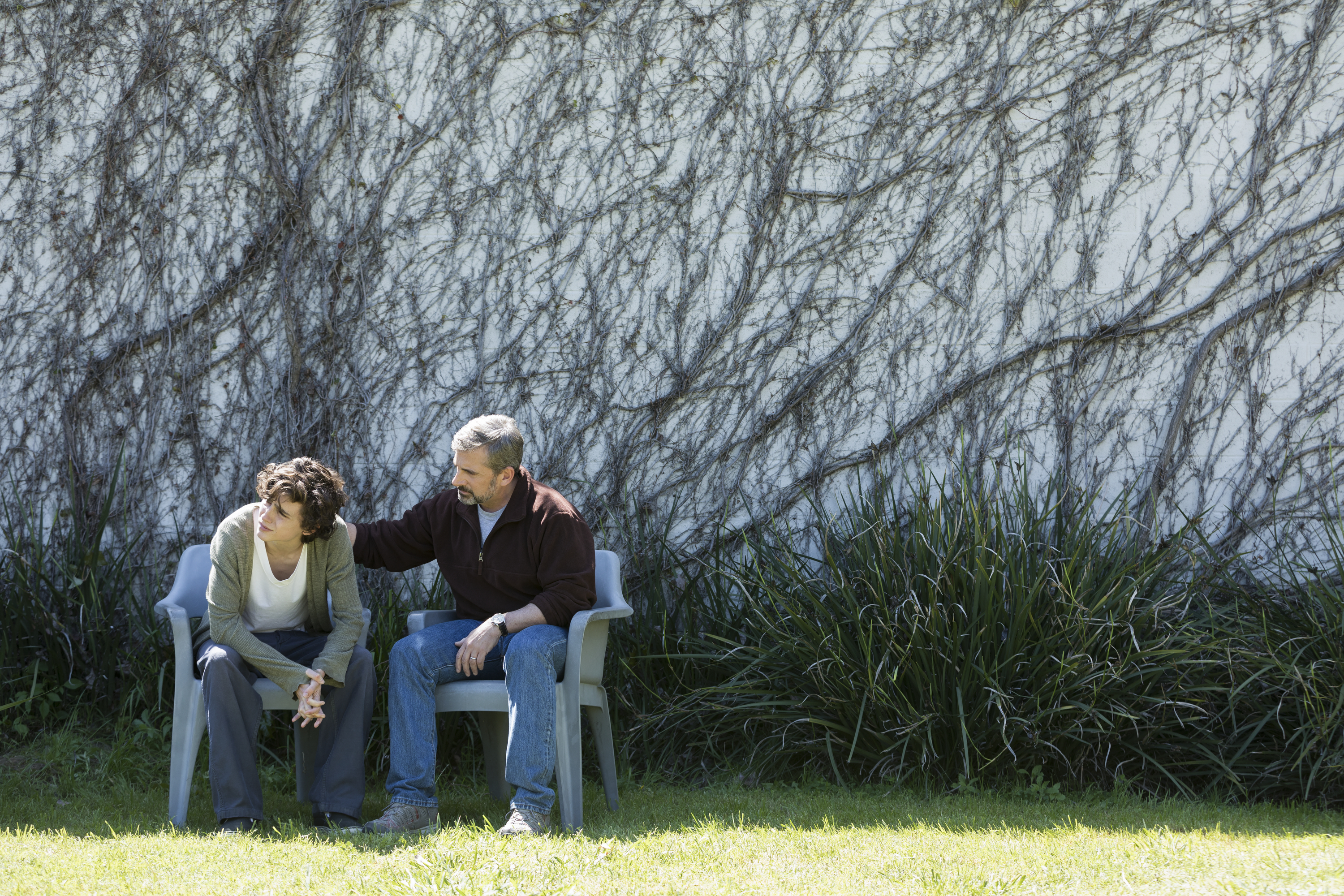 Timothée Chalamet and Steve Carell in 'Beautiful Boy'