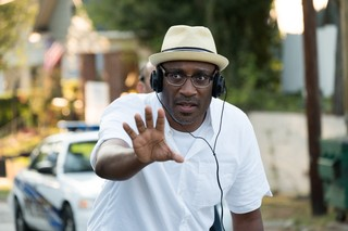 Director George Tillman, Jr. on the set of Twentieth Century Fox's THE HATE U GIVE. Photo Credit: Erika Doss.