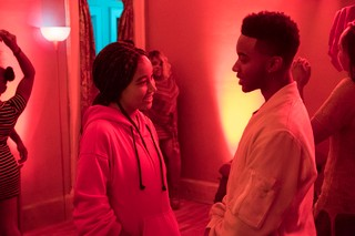 Amandla Stenberg and Algee Smith in THE HATE U GIVE. Photo Credit: Erika Doss.