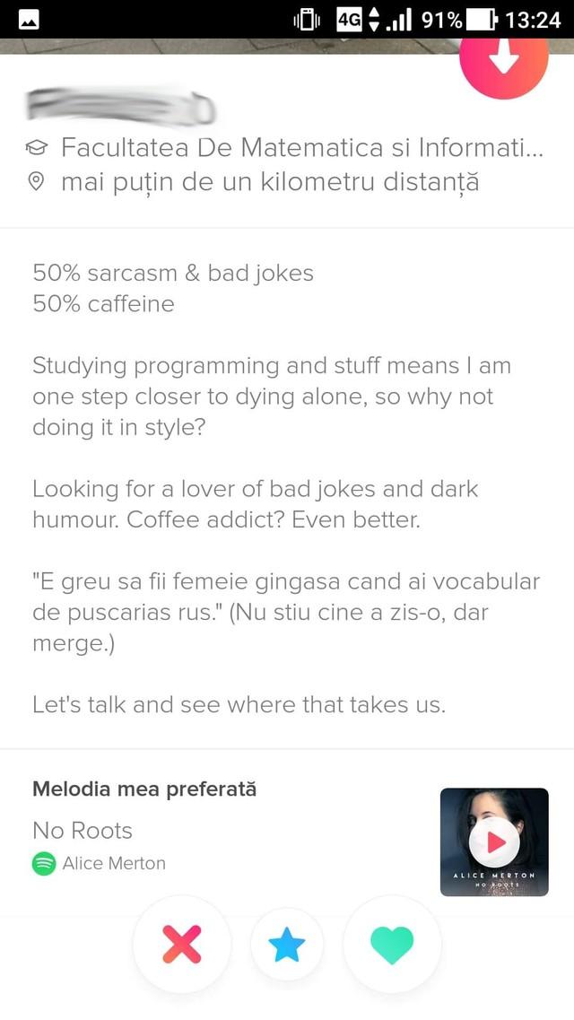 Exemplu Descriere pentru site ul de dating