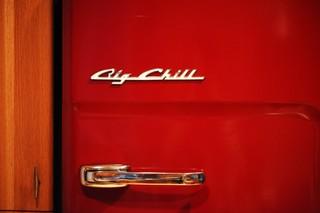 Naomi Pomeroy's red vintage Big Chill fridge