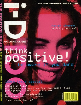 i-D Cover 1992 Think Positive