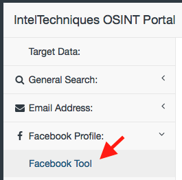 Screenshot des OSINT Search Tool