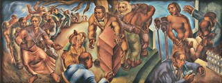 Charles White (American, 1918-1979). Five Great American Negroes. 1939. Oil on canvas, 60 x 155″ (152.4 x 393.7 cm). From the Collection of the Howard University Gallery of Art, Washington D.C.© The Charles White Archives/ Photo: Gregory R. Staley