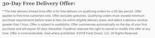 Foodkick 30-day trial screenshot