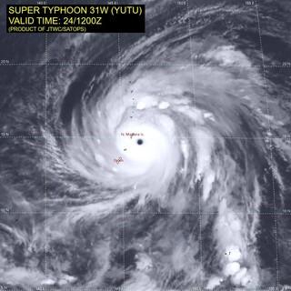 Super Typhoon Yutu over the Northern Mariana Islands.
