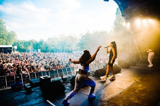 Singer Mabel performing at Wireless festival 2018