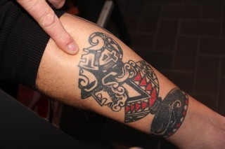 Appie heeft zelf ook Ajax-tatoeages.