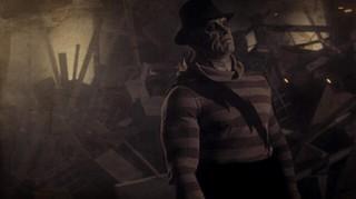 a sepia-toned muscular super-villain iteration of Freddy Krueger