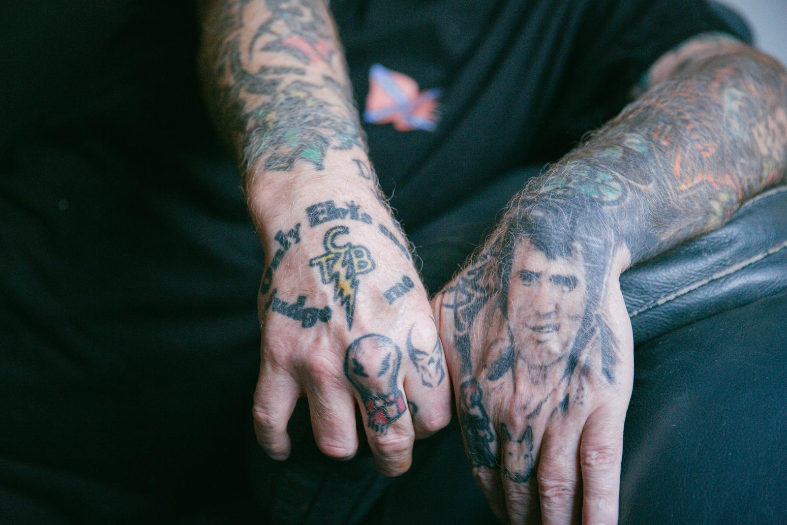 De tattoos van Rooie Frans