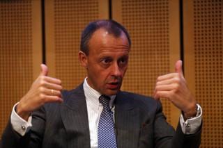 Friedrich Merz diskutiert auf einer Veranstaltung im Jahr 2017