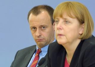 Friedrich Merz und Angela Merkel